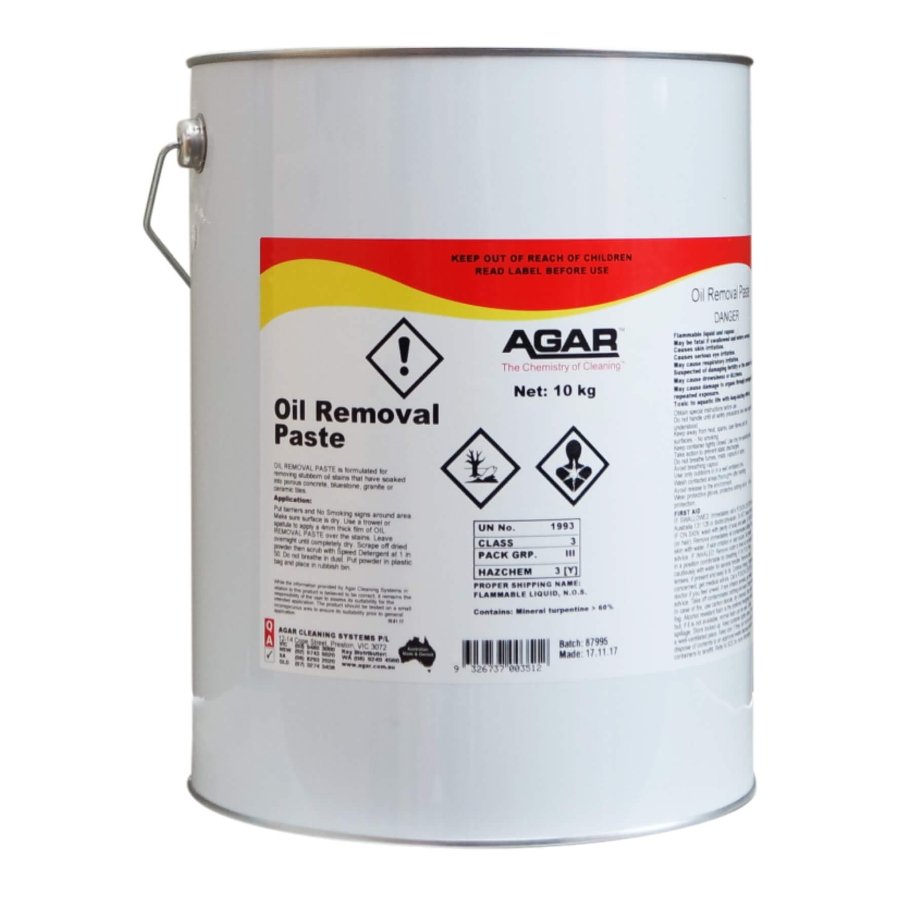 Oil Removal Paste | Agar Cleaning Systems