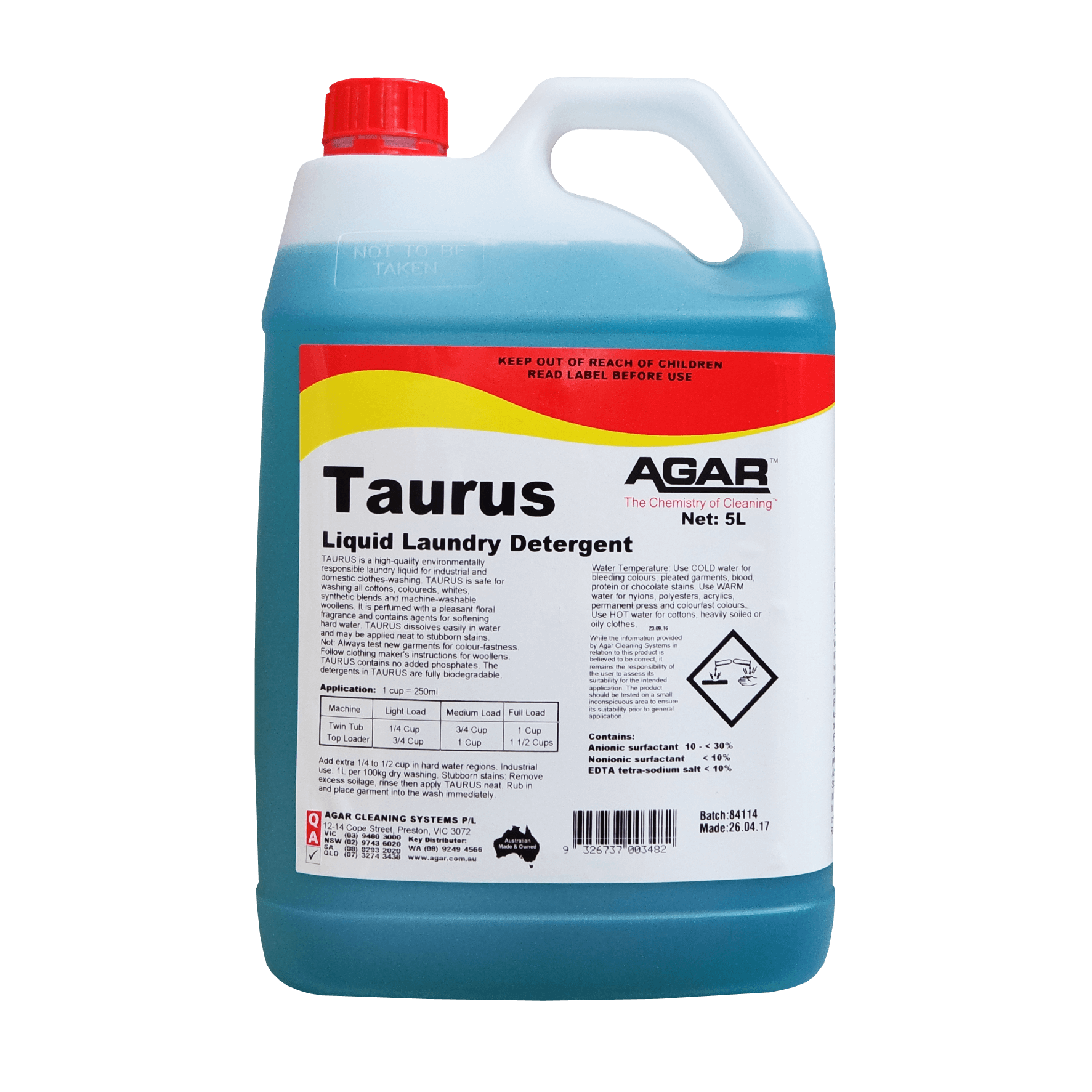Taurus Laundry Liquid Agar Cleaning Systems