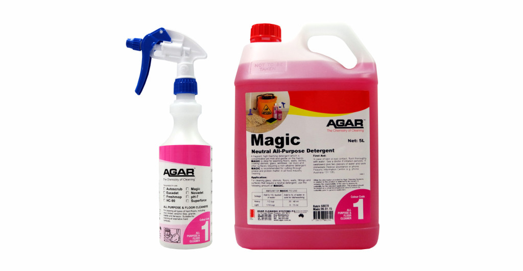 Magic Cleaning Product and Spray Bottle