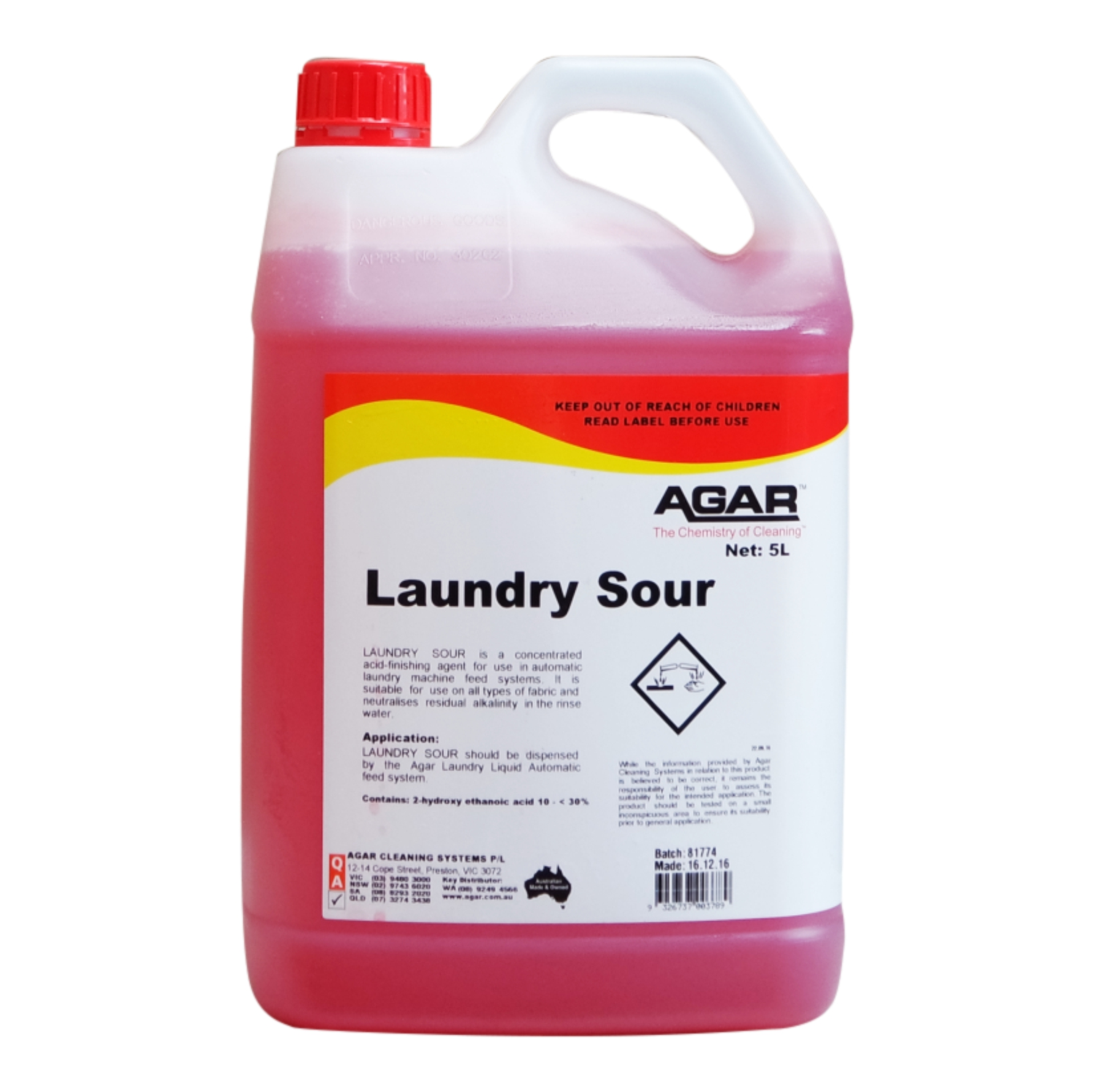 Laundry Sour Agar Cleaning Systems