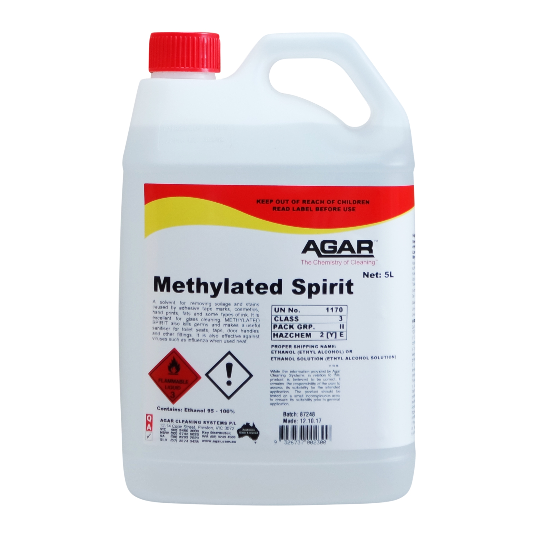 Methylated Spirit | Agar Cleaning Systems