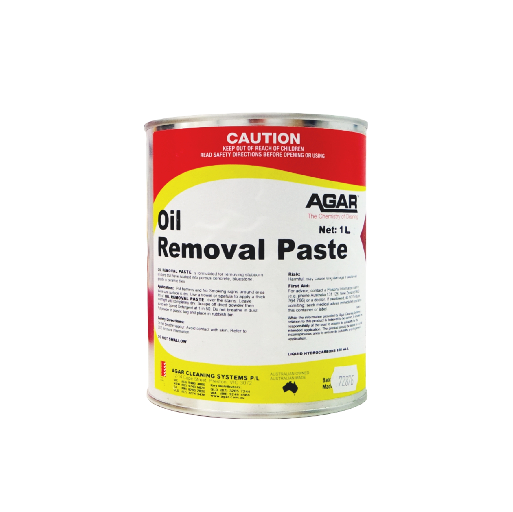 Oil Removal Paste Agar Cleaning Systems