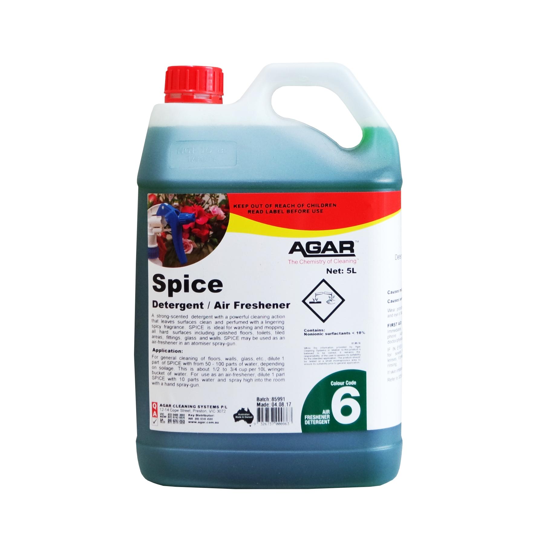 Spice Deodoriser Agar Cleaning Systems