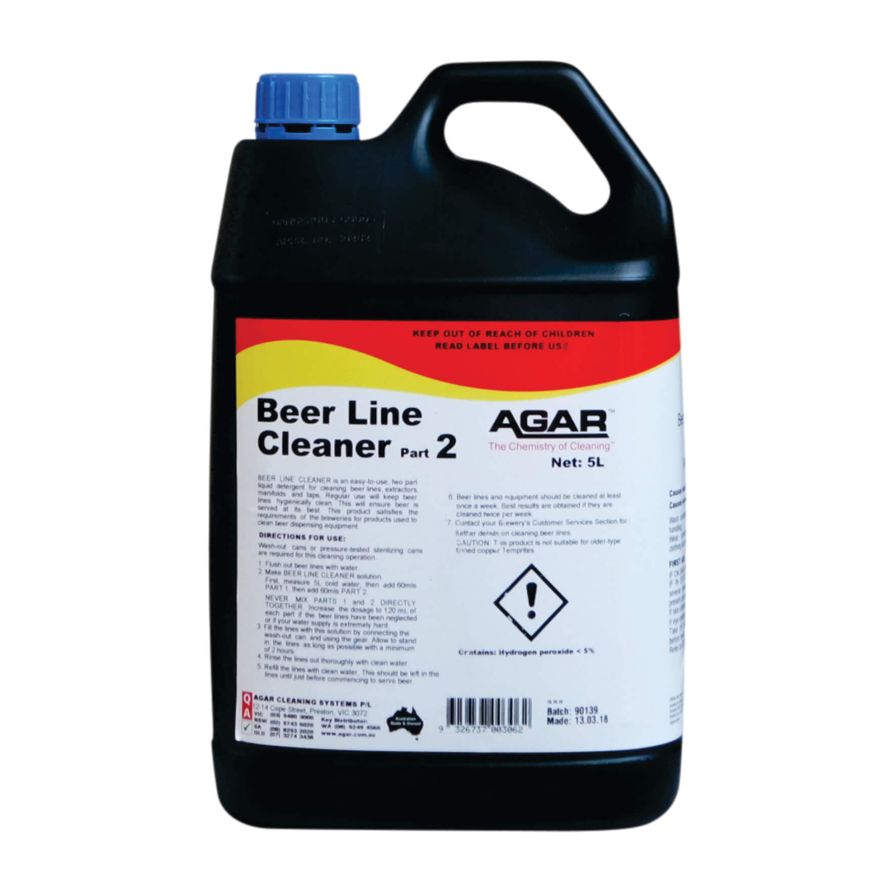 Beer Line Cleaner Liquid Detergent Agar Cleaning Systems